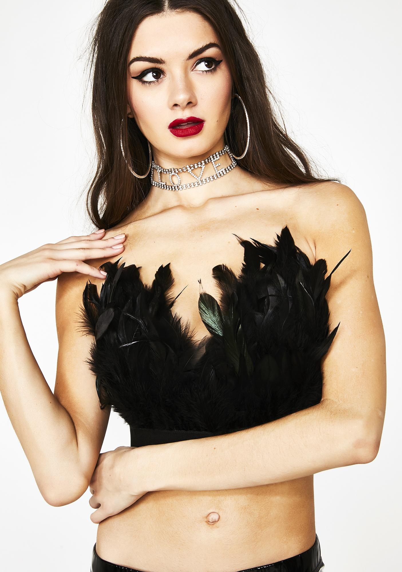 Tickle Your Fancy Feather Bustier