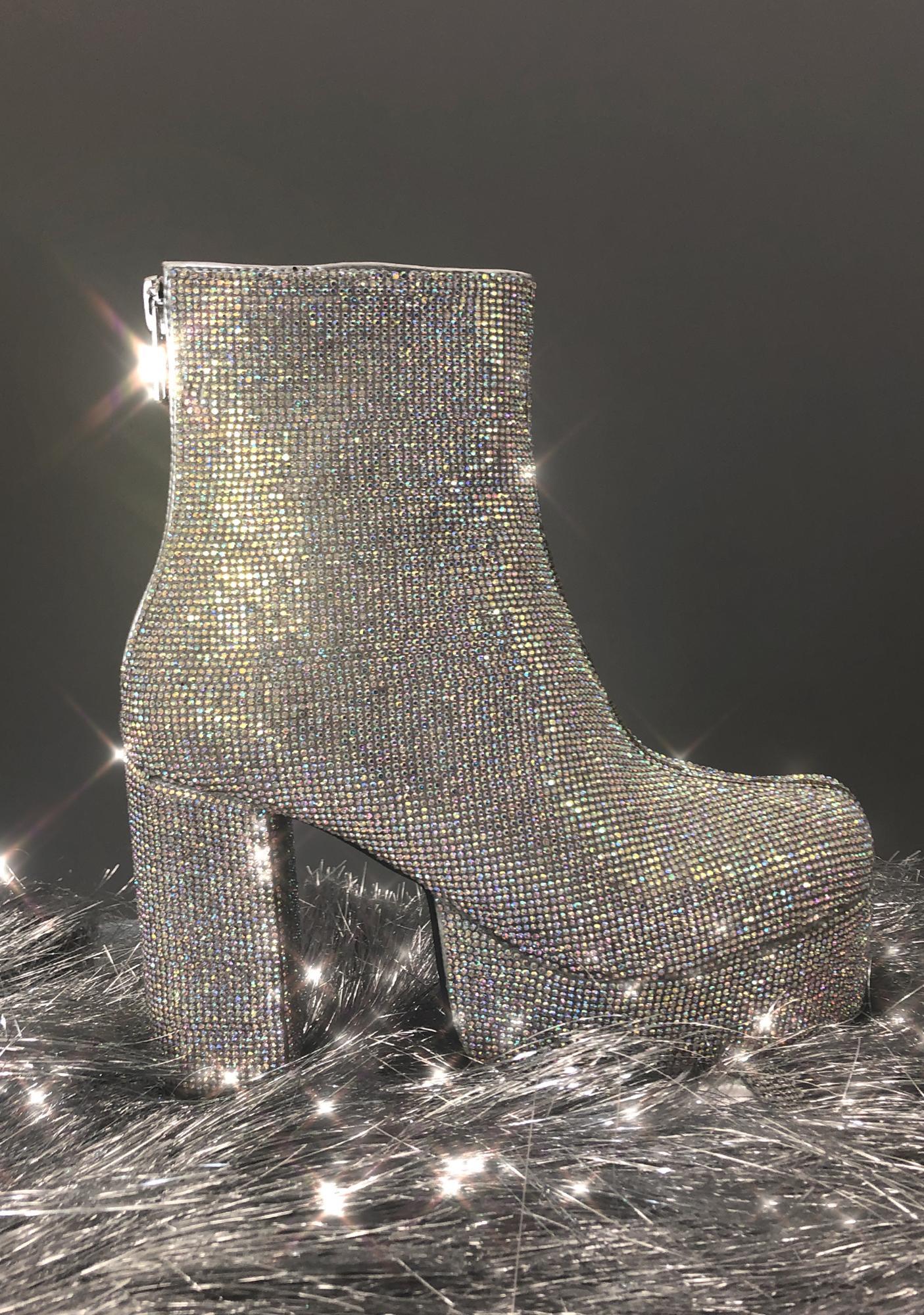 Current Mood Crystal Tide Platform Boots