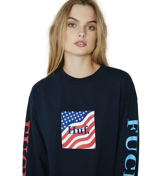 HUF Domestic Fuck It Long Sleeve Tee