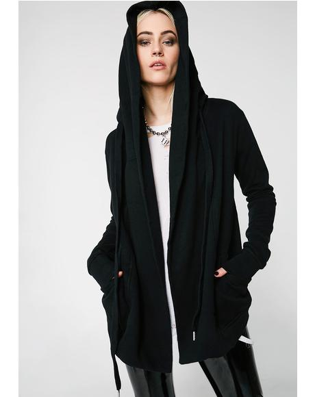 Oversized Hooded Cardigan