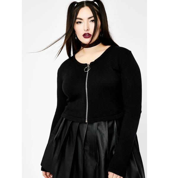 Current Mood Endless Cyber Reign Zip Cardigan