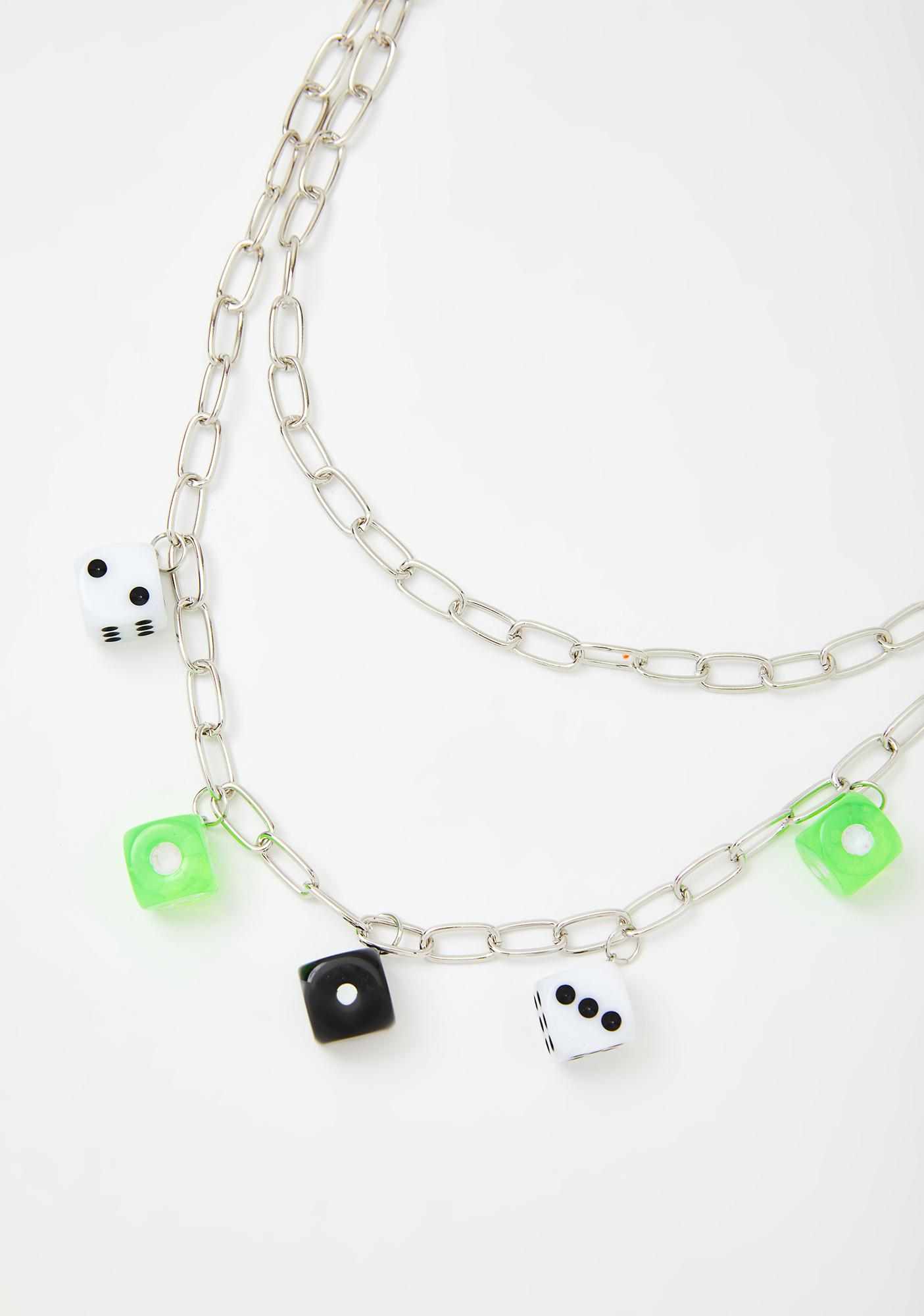 Try Ur Luck Dice Necklace