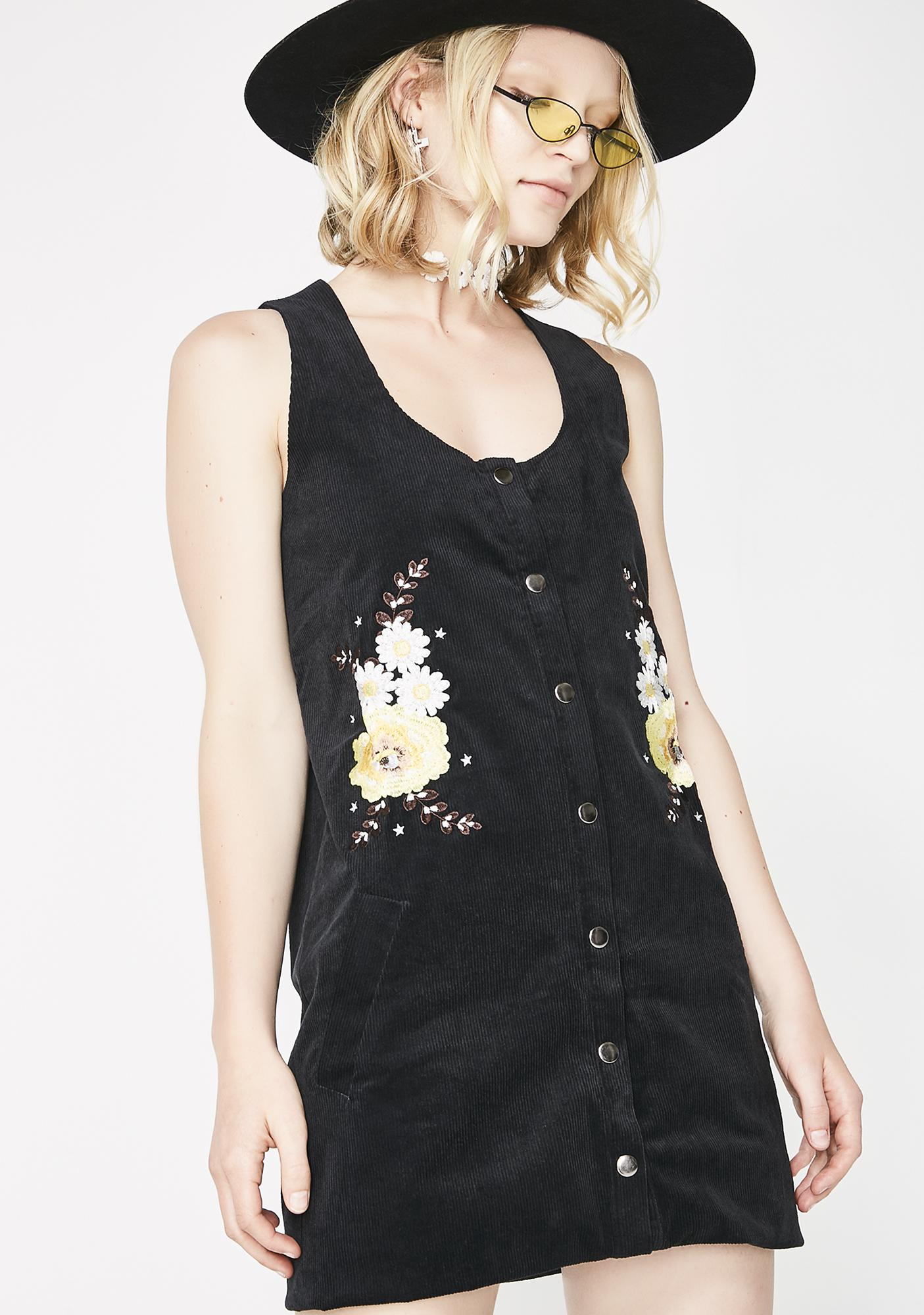 Glamorous Garden Baby Button-Up Dress