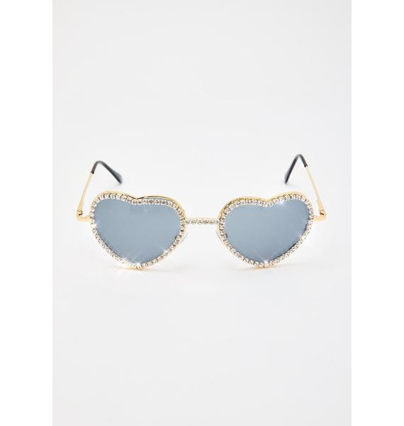 Buy My Love Rhinestone Sunglasses