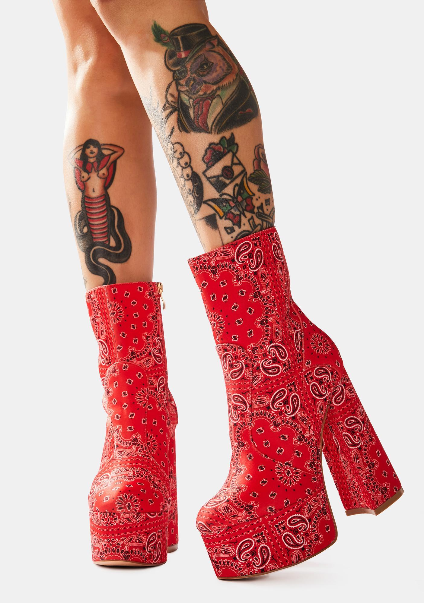 Cherry Irresistible Flirt Boots