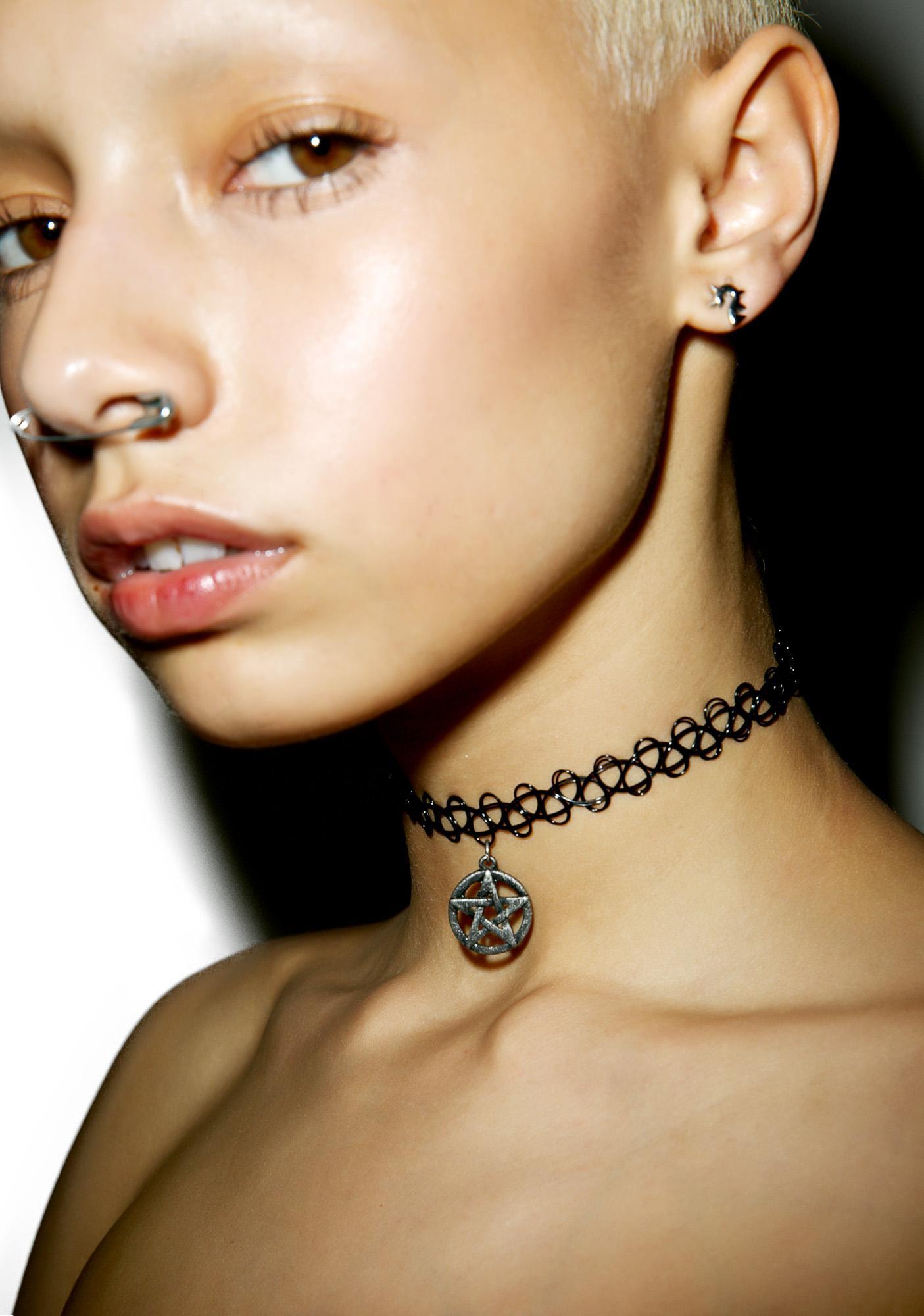 Pentagram Tattoo Choker