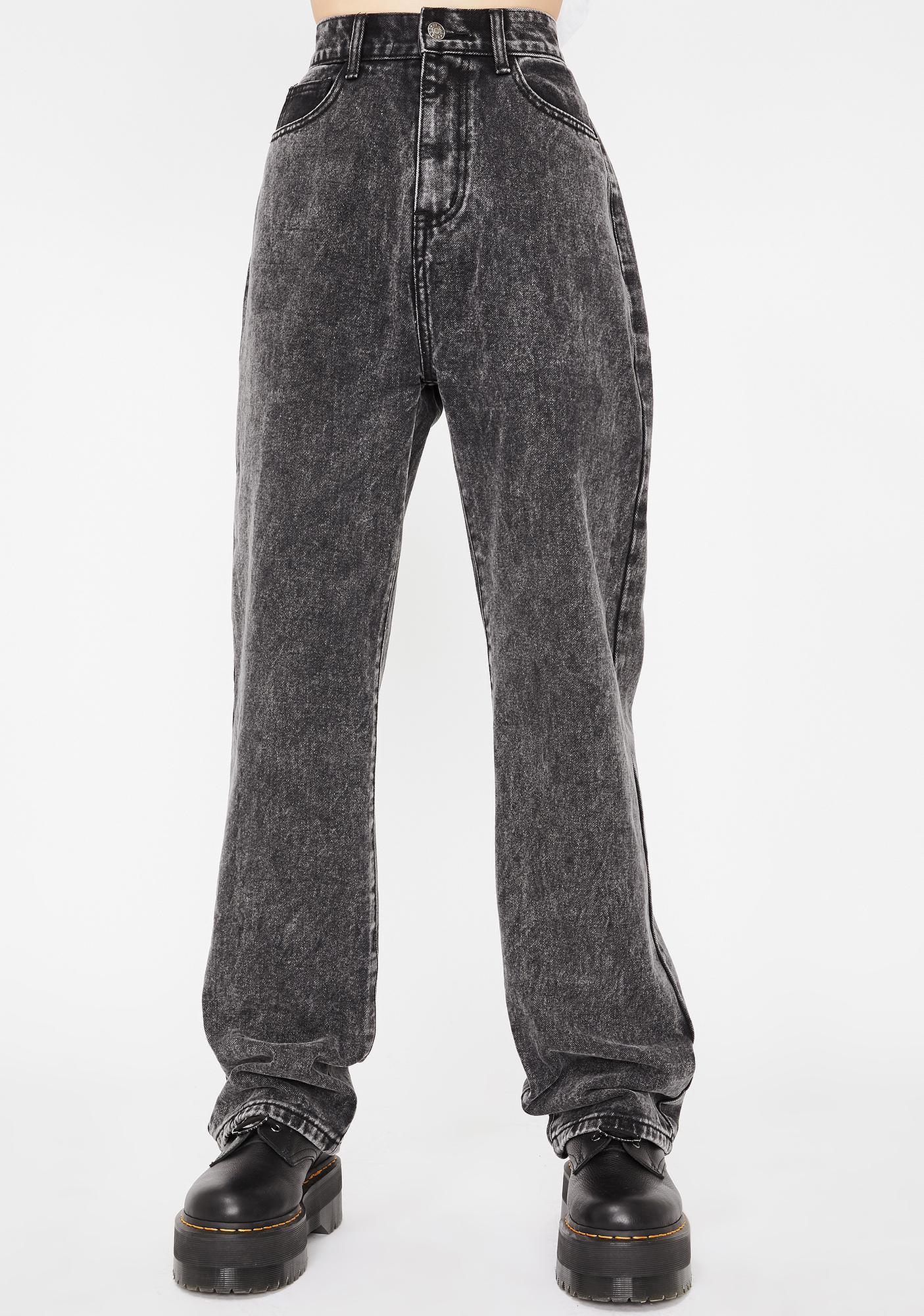 Momokrom Acid Wash Loose Fit Denim Jeans