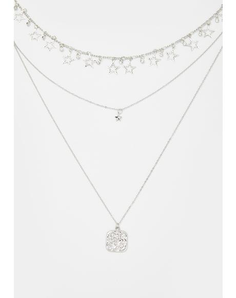 Wishing Stars Layered Chain Necklace