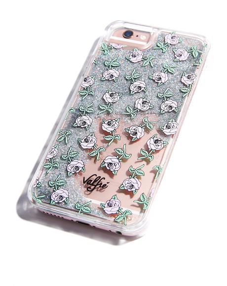 Rose Glitter iPhone Case