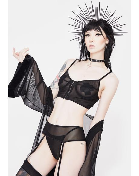 Get The Hook Mesh Garter Set