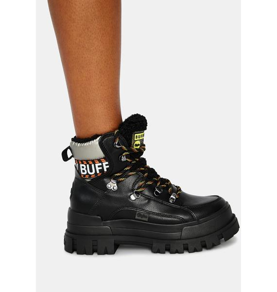 Buffalo Aspha NC Fur Lace Up Sneakers
