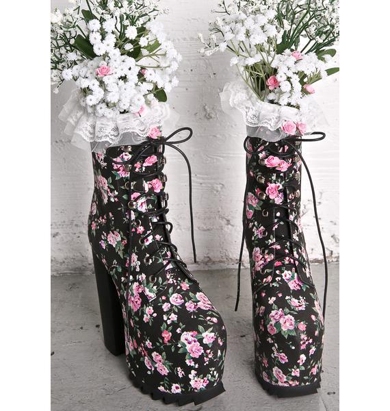Sugar Thrillz Secret Garden Boots