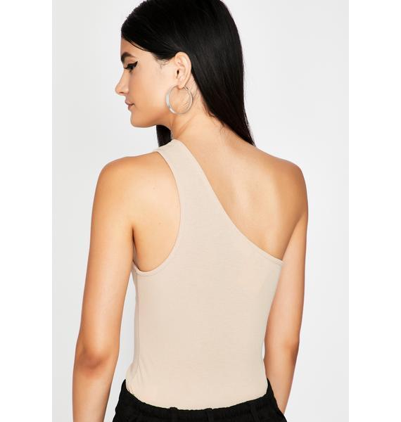 Pop The Clutch Asymmetrical Bodysuit
