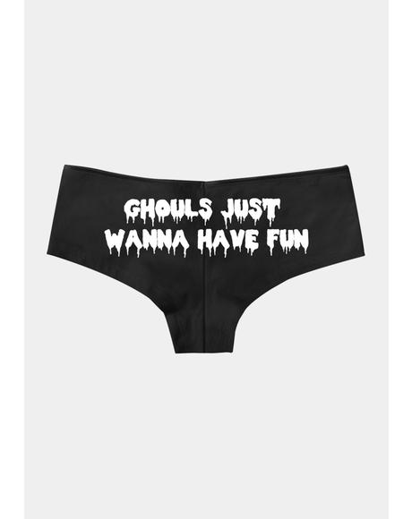Ghouls Wanna Have Fun Boy Short Undies