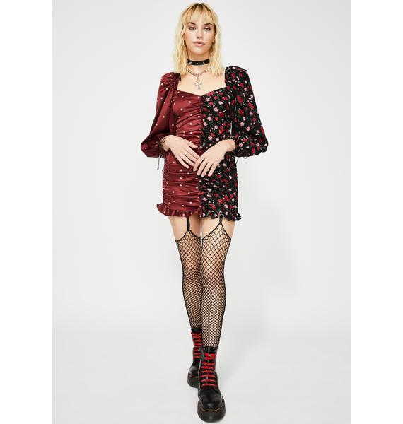For Love & Lemons Cher Ruched Mini Dress