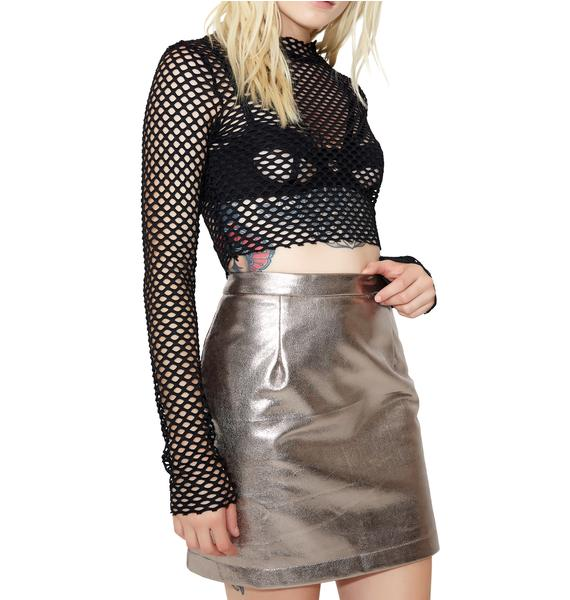 Glamorous Night Out Metallic Mini Skirt