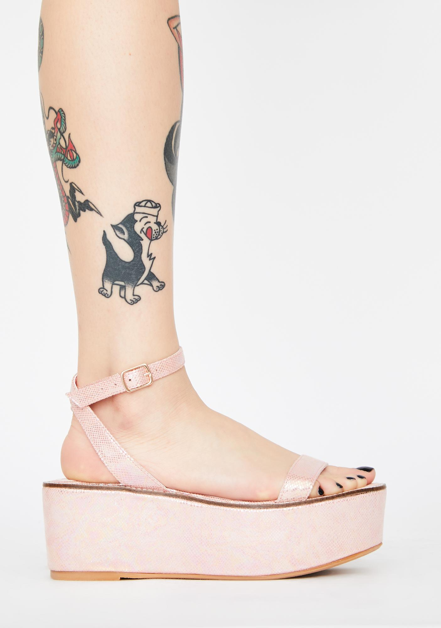 Lemon Drop by Privileged Pink Davvy Platform Sandals