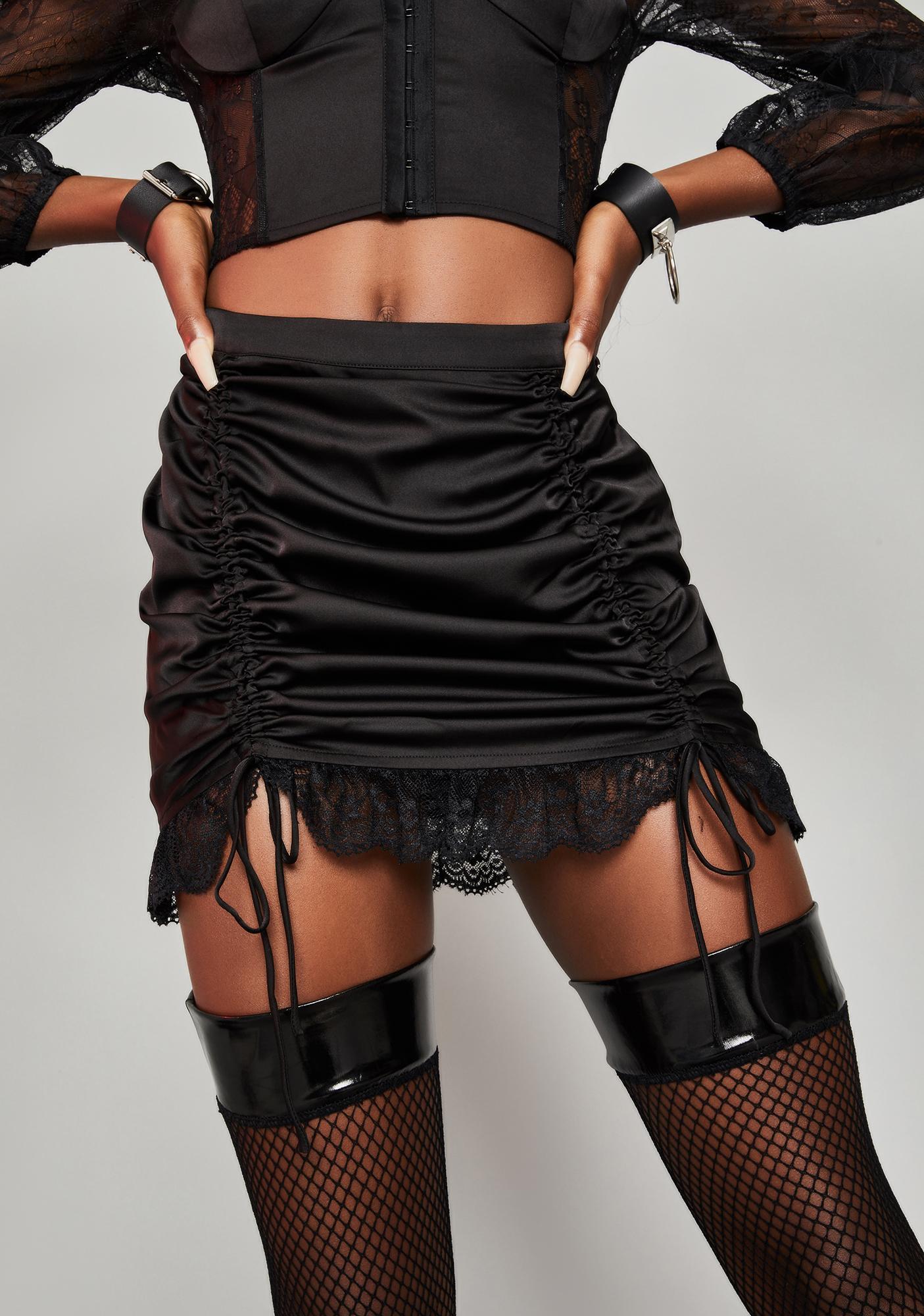 HOROSCOPEZ Romantic Heights Ruched Skirt