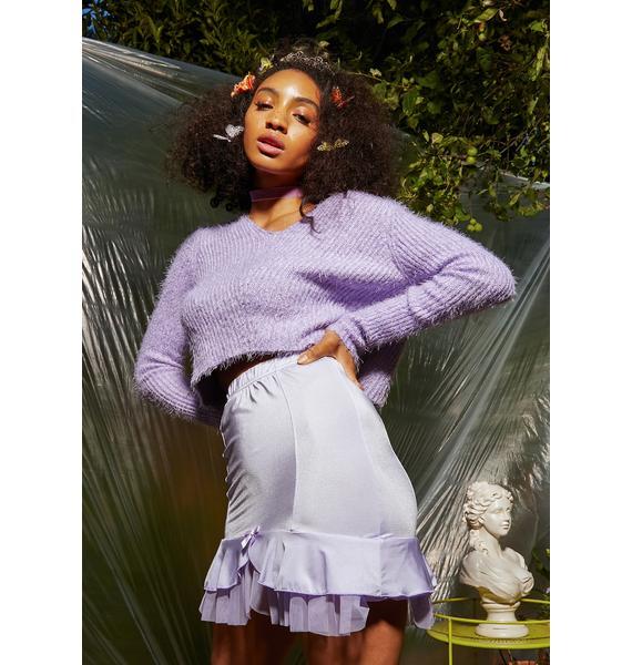 Sugar Thrillz Lilac Lullaby Mini Skirt