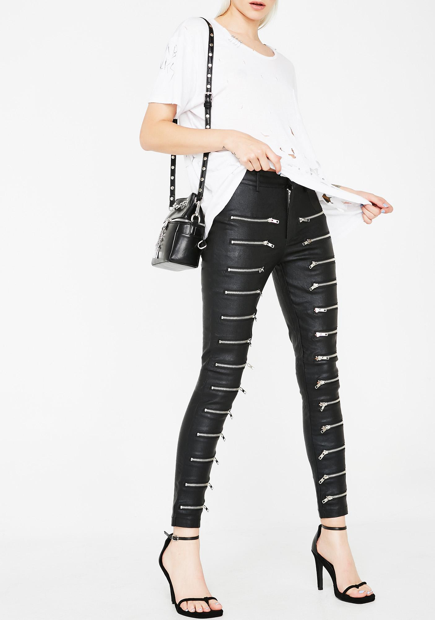 All Talk Zip Pants