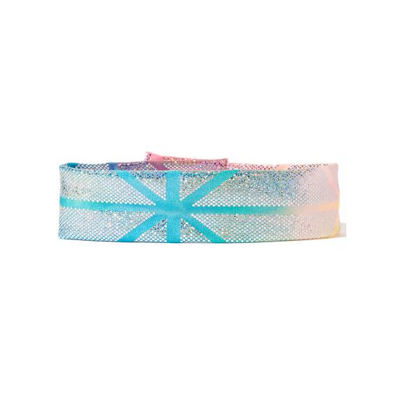 J Valentine Prism Star Scouter Holographic Choker