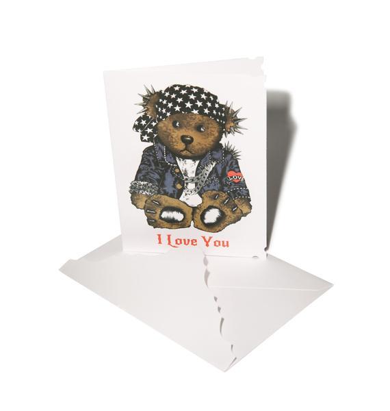 Lauren Moshi I Love You Rocker Teddy Greeting Card