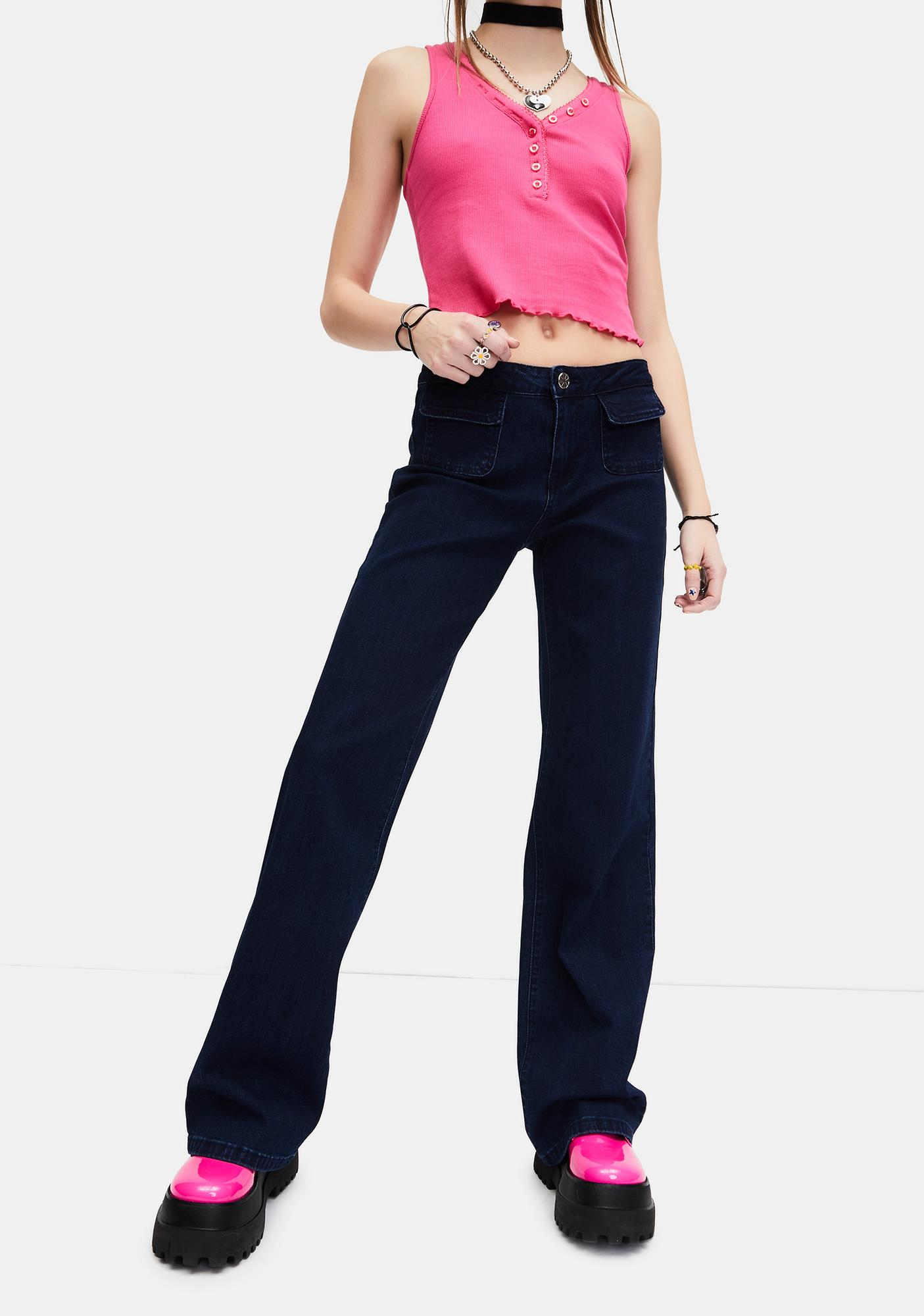 dELiA*s by Dolls Kill Time To Pretend Low Rise Jeans