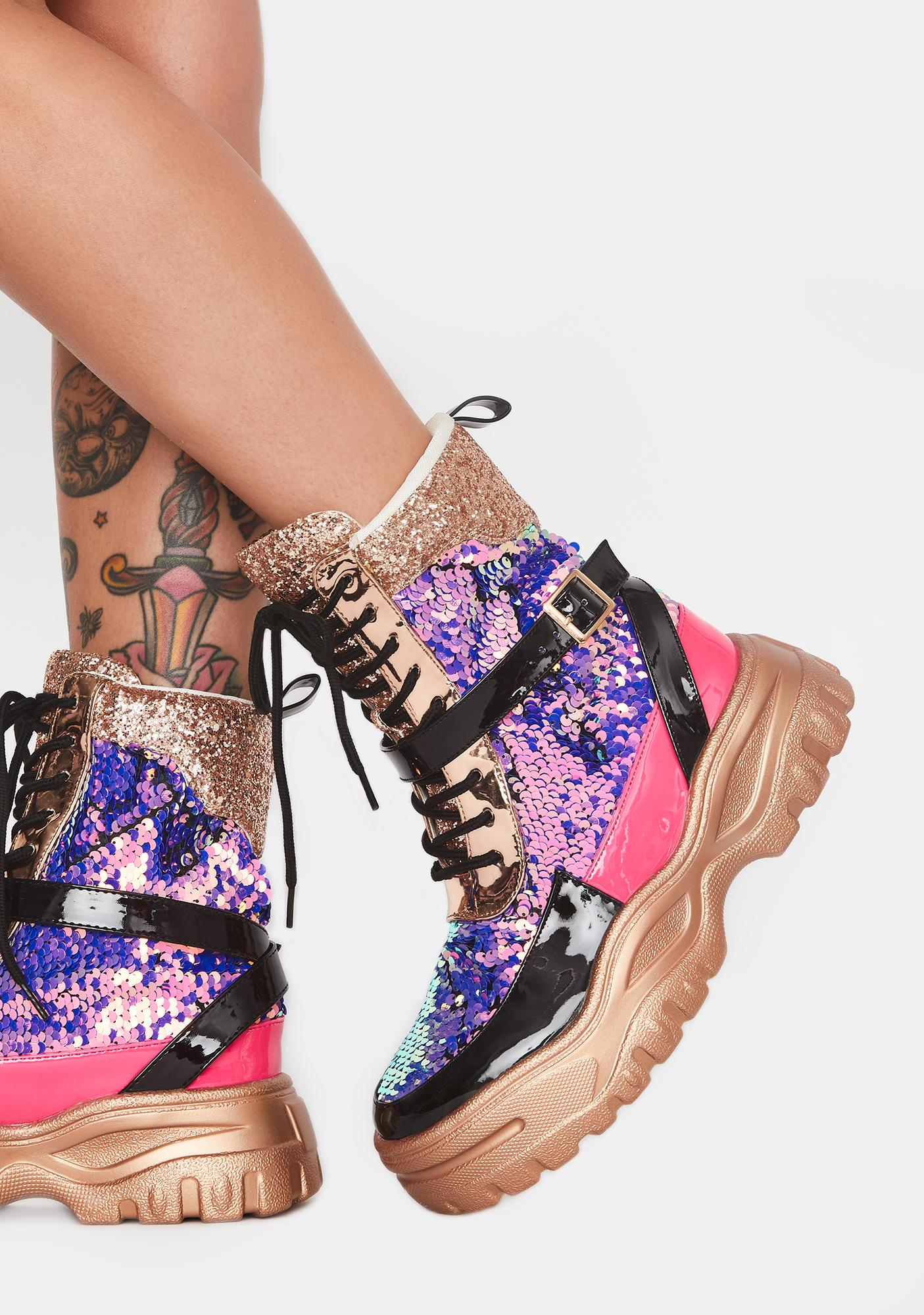 Astro Princess Lace Up Boots