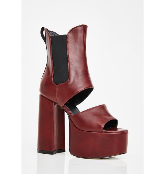Lamoda Wine Feelin' Naughty Platform Boots