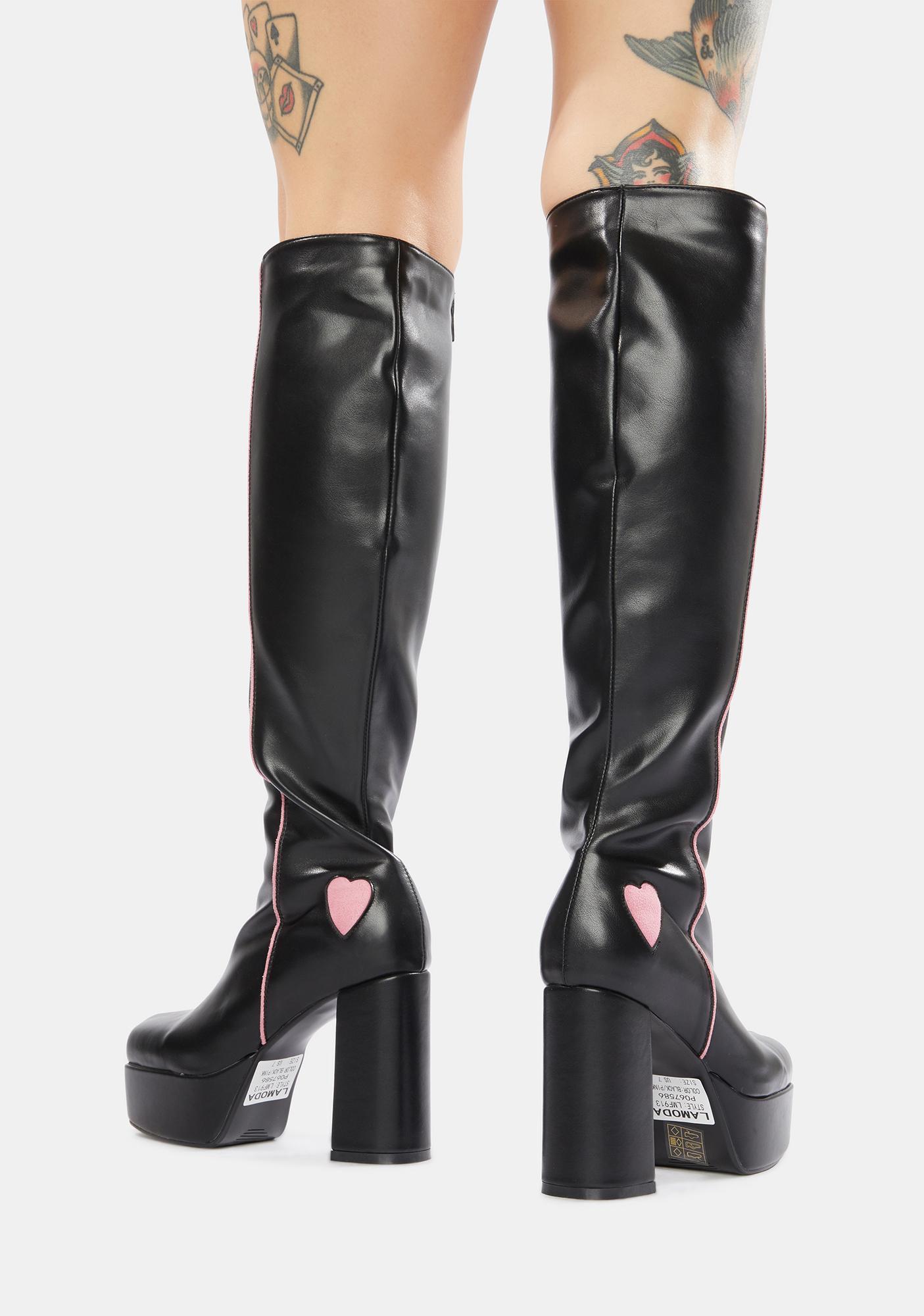 Lamoda Barbie Girl Platform Knee High Boots