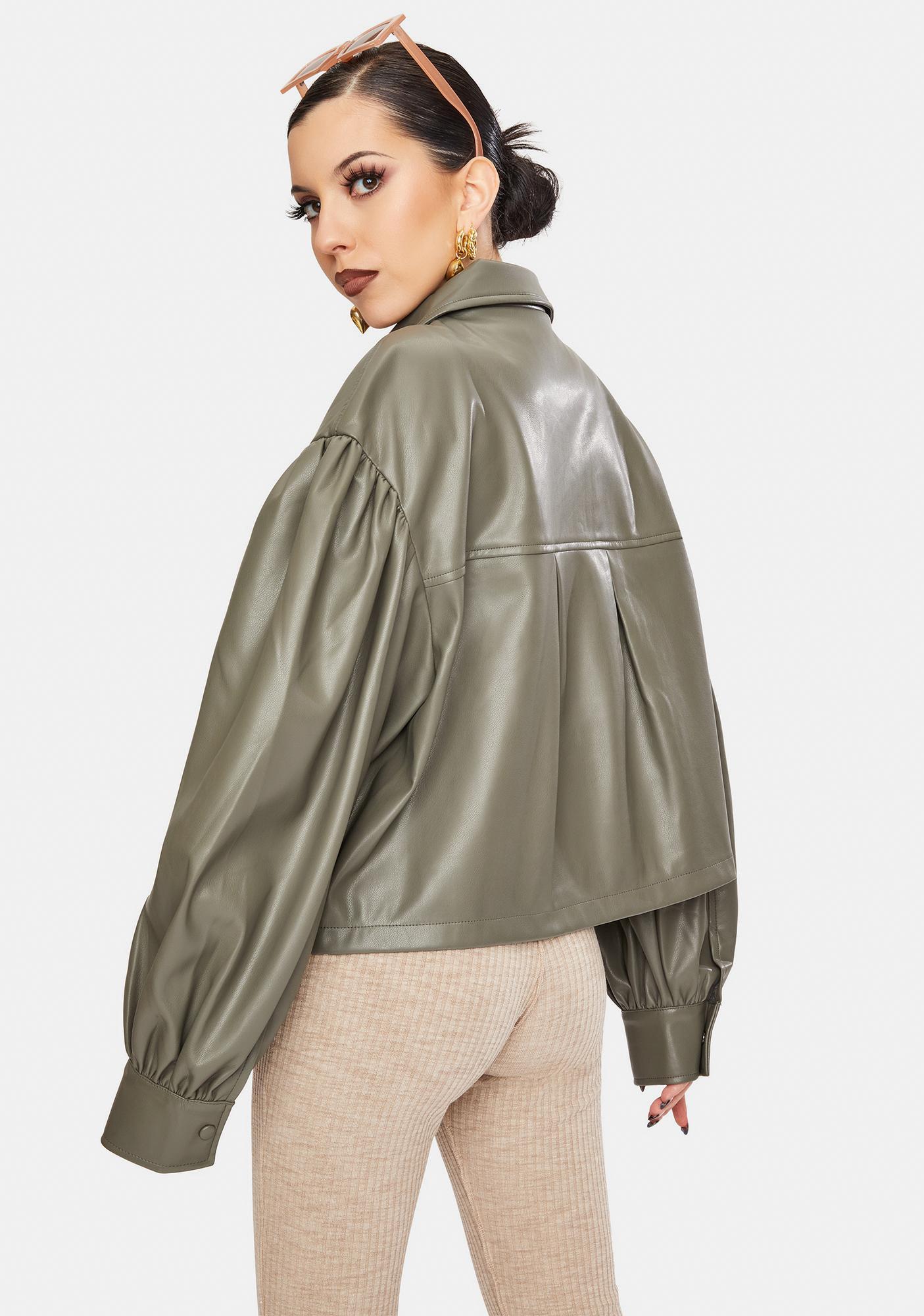 BB Dakota Love On Vegan Leather Crop Jacket