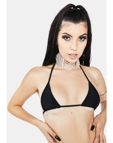 Sabbath Black Alabama String Bikini Top