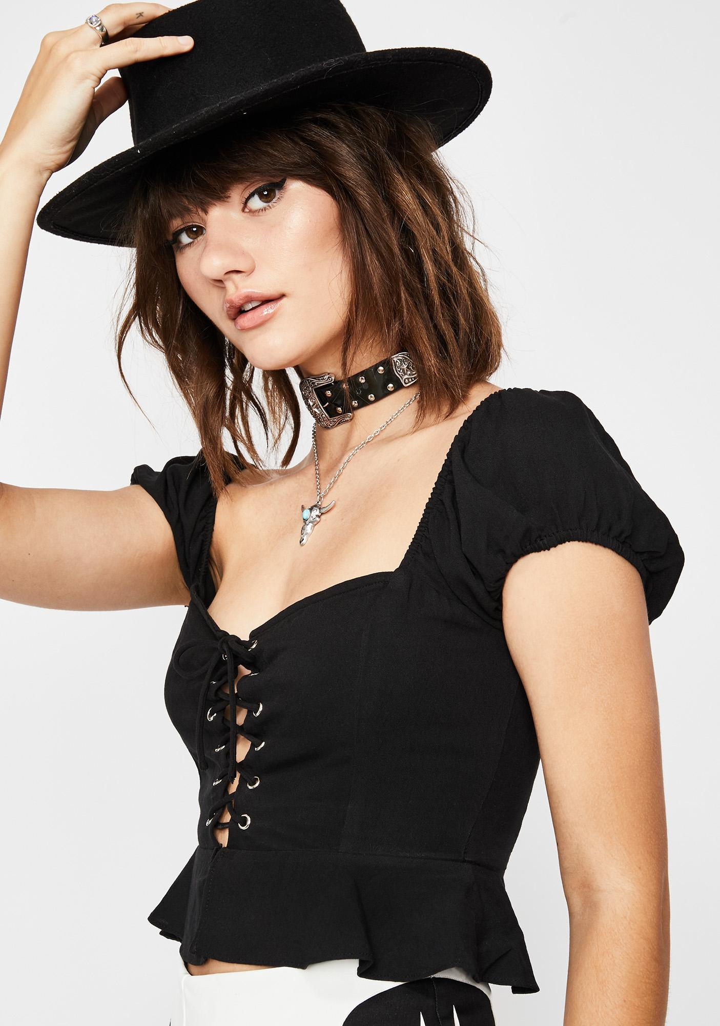 Dark Sweet N' Petite Crop Top