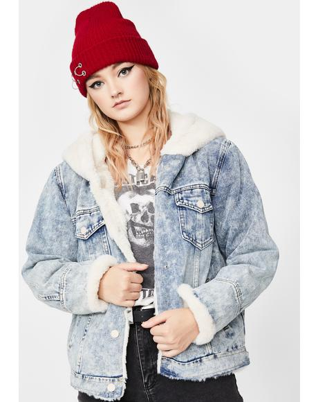 Enough Fluff Denim Jacket