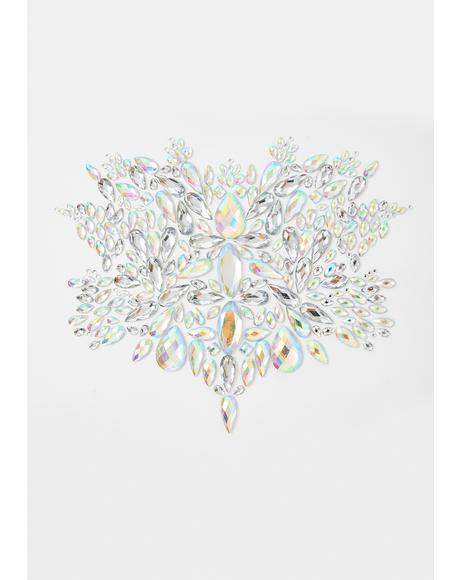 Silver Crystal Body Jewel