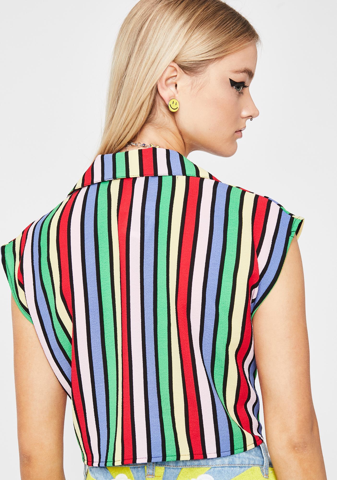 Rainbow Bizzness Crop Top