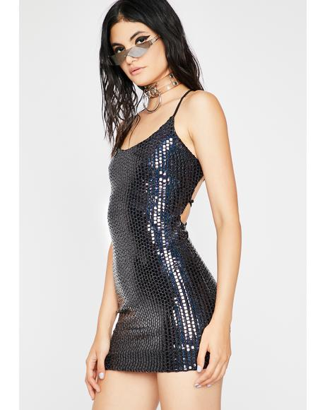 Midnight No Requests Sequin Mini Dress