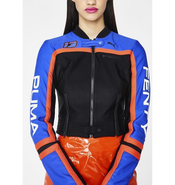 PUMA FENTY PUMA By Rihanna Scuba Panelled Biker Jacket