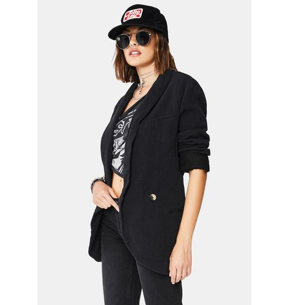 Free People Black Rowan Blazer