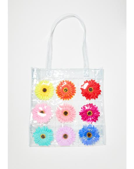 Friendly Flower Clear Tote