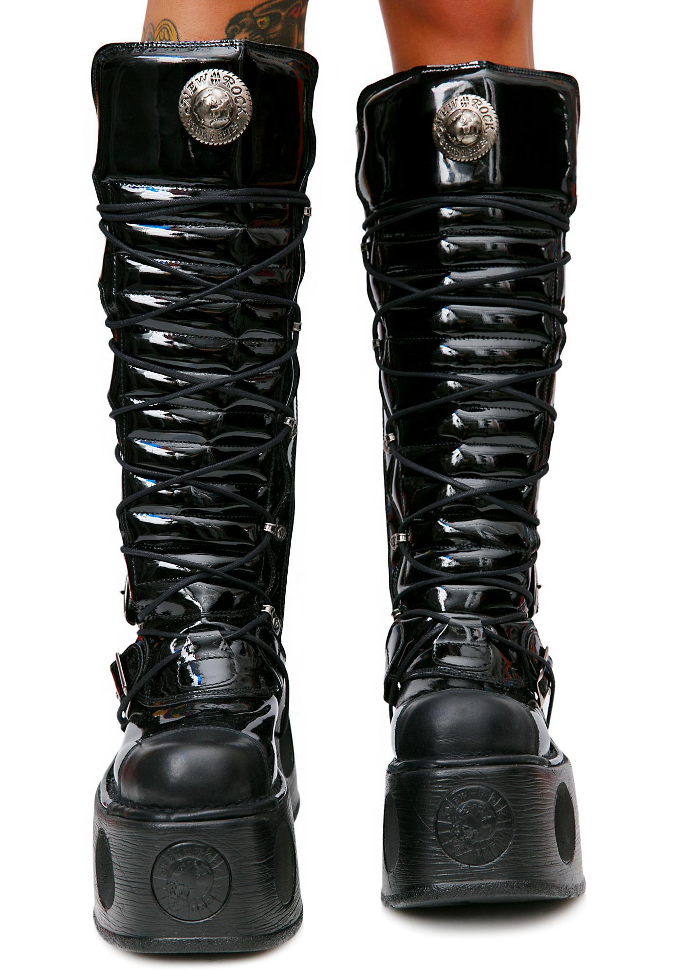 New Rock Daywalker Buckle Platform Boots