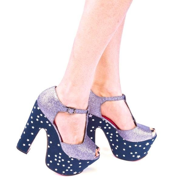 Iron Fist Starry Night Super Platform Shoes