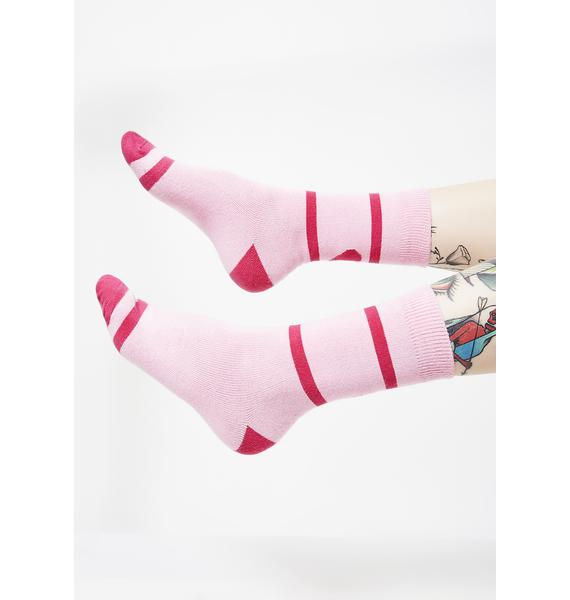 Lazy Oaf Back Of Heart Socks