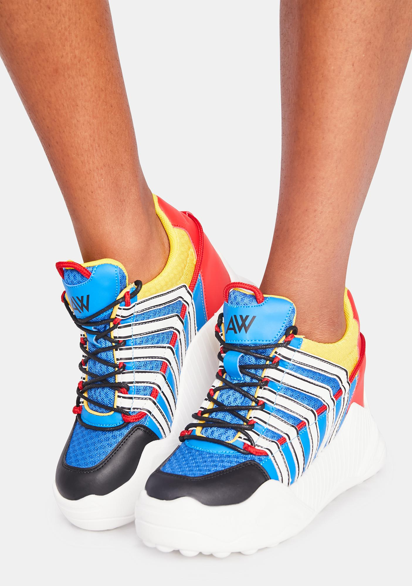 Anthony Wang Multi Durian Platform Sneakers