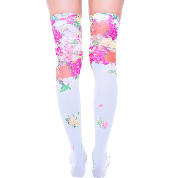 Private Arts Budding Romance Thigh High Sox