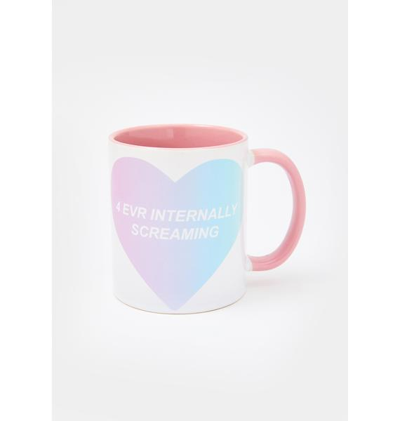 Femfetti 4 Evr Internally Screaming Mug