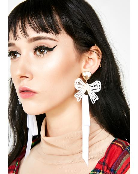 Too Sweet Ribbon Earrings