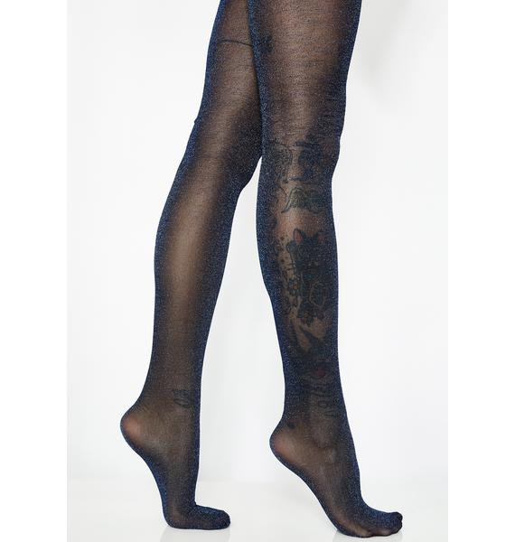 Royal Glittering Flash Tights