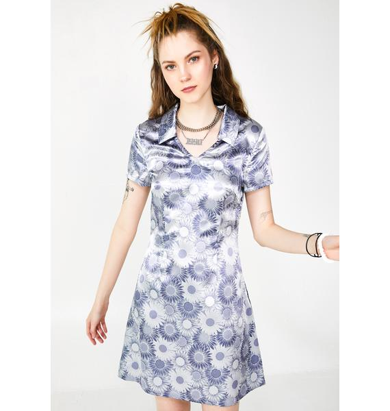 dELiA*s by Dolls Kill Flower Child Satin Dress