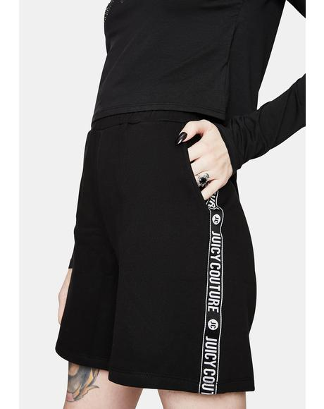Black Lipstick Fleece Shorts